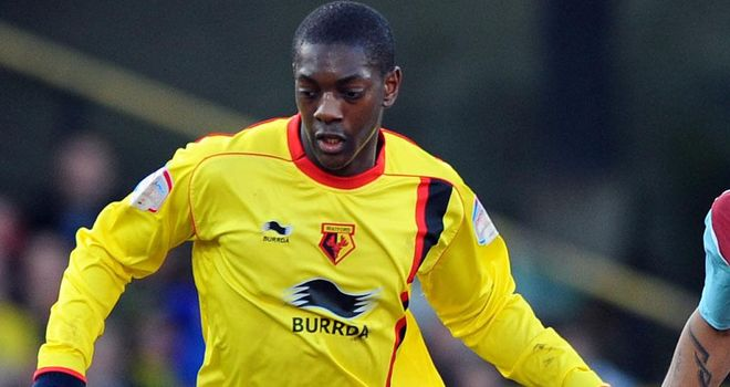 Marvin Sordell: The 20-year-old has made the move from Watford after impressing in the Championship