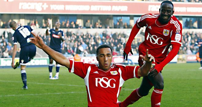 Nicky Maynard: Celebrating winner at Millwall