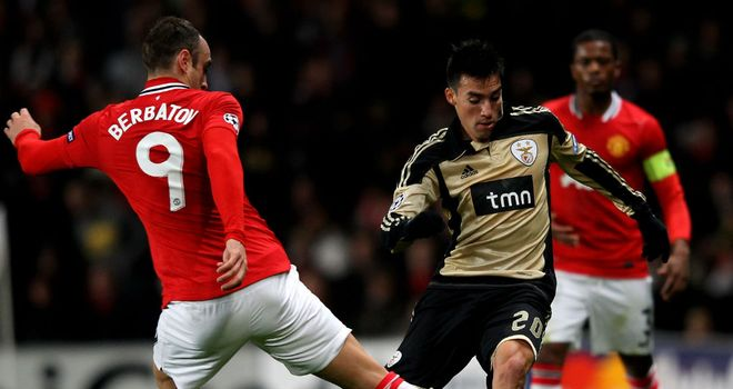 Nicolas Gaitan: Shone for Benfica in their European clashes with Manchester United
