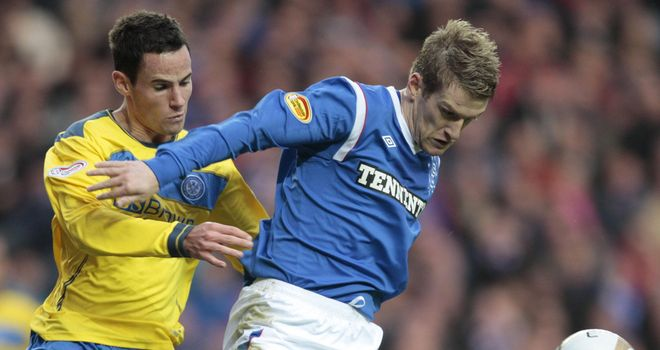 Kevin Moon (L): St Johnstone midfielder is hoping to agree a new contract to stay at the club