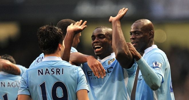 Goal crazy: Man City could have an added reason to celebrate