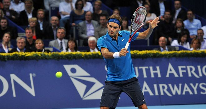 Roger Federer: Into the quarter-finals of his hometown tournament.