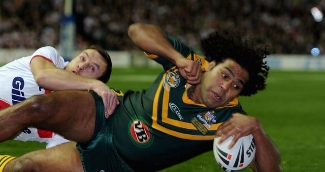 Sam Thaiday scores Australia's first try