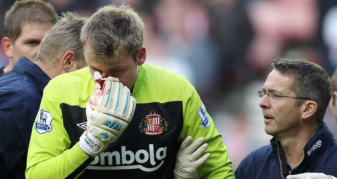 Simon Mignolet: Facing a couple of months on the sidelines after face injury
