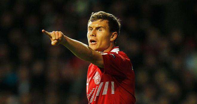 Andreas Bjelland: On target for Denmark