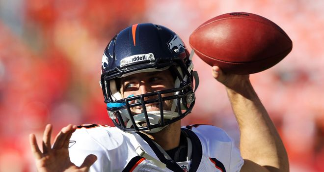 Armed and dangerous: but you might not see Tebow tossing it much