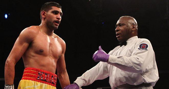 Amir Khan was docked two points during defeat to Lamont Peterson