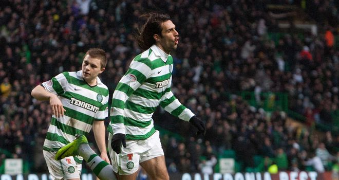 Samaras: Opened the scoring for Celtic
