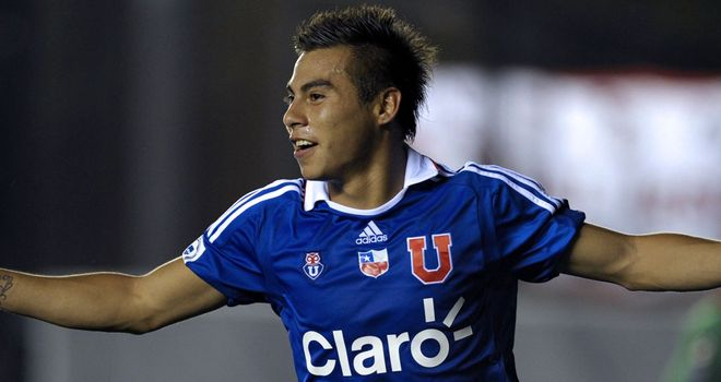 Eduardo Vargas: Chilean starlet joined Napoli from Universidad de Chile last month
