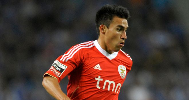 Nicolas Gaitan: Midfielder happy at Benfica amid reports he was watched again by Manchester United