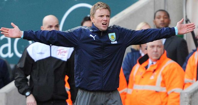 Eddie Howe: Knows Burnley must pick up three points on a regular basis
