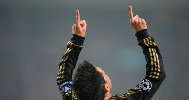 Jose Callejon: Celebrates putting Real a goal up against Ajax after 13 minutes