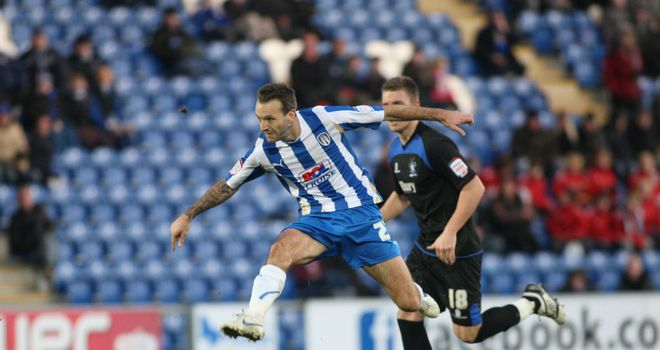 Karl Duguid: Back at Colchester and hoping to lead a promotion push Picture credit: www.cu-fc.com