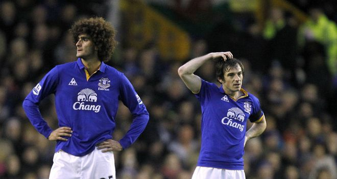 Leighton Baines: Expects a lot of interest in team-mate Marouane Fellaini