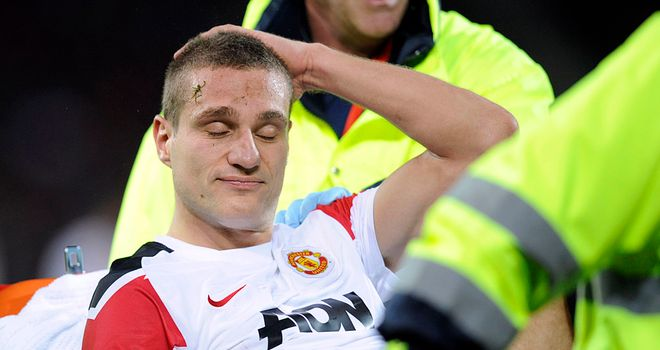 Nemanja Vidic: Agent fears defender could be sidelined for several months with knee injury