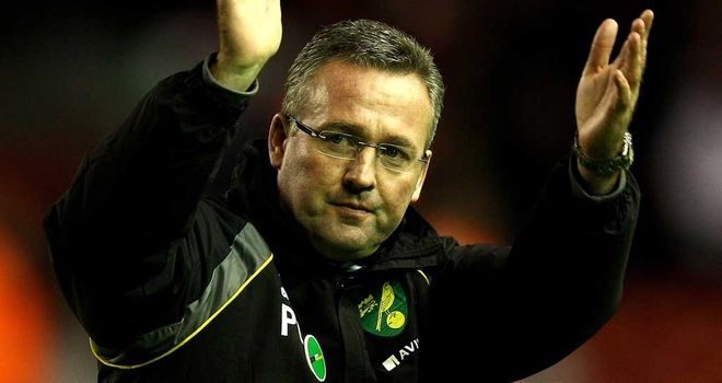 Paul Lambert: Norwich boss delighted with his team's display against Spurs