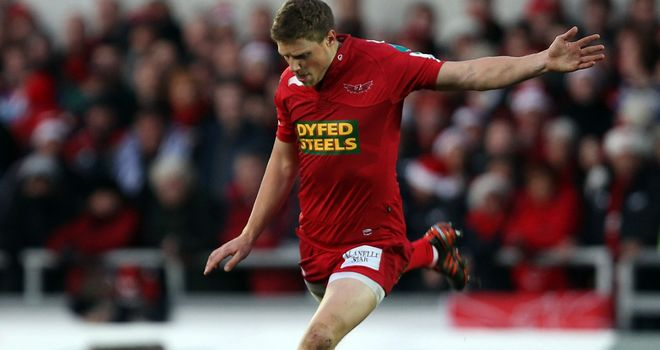 Rhys Priestland: Bagged an 11-point haul for Scarlets
