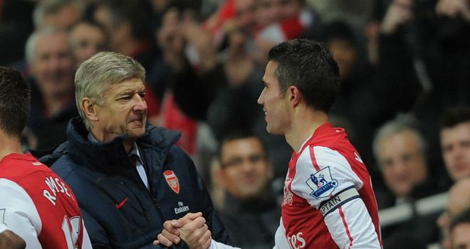 Robin van Persie: Insists there is no conflict between himself and manager Arsene Wenger