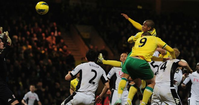 Simeon Jackson: Headed Norwich to a point against Fulham