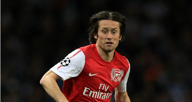 Tomas Rosicky: Out of contract in the summer