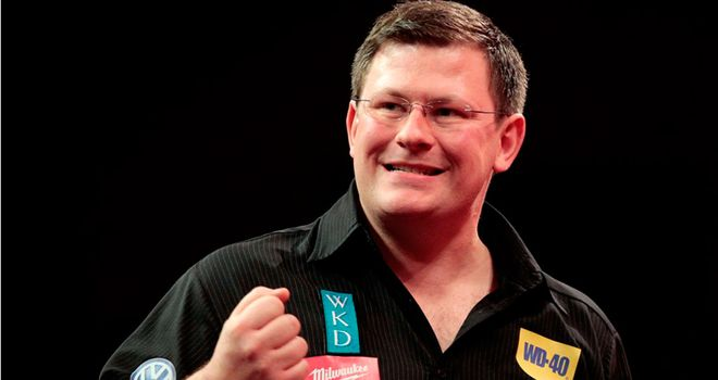 James Wade: Held his nerve to record a memorable 5-4 victory over John Part