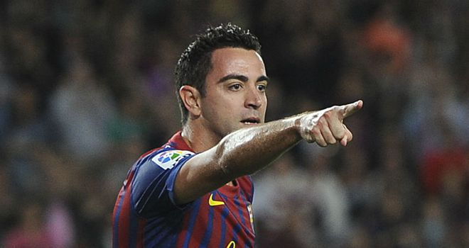 Xavi: Barcelona midfielder glad qualification is still in their own hands