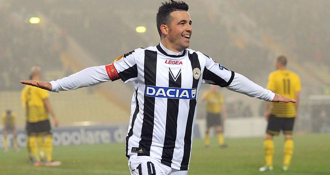 Antonio Di Natale: His goal against Celtic was the 13th in 19 games this season