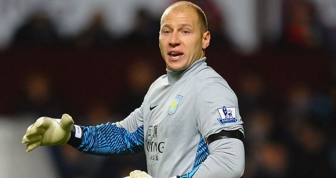 Brad Guzan: Excited about making his first home league start against Liverpool on Sunday