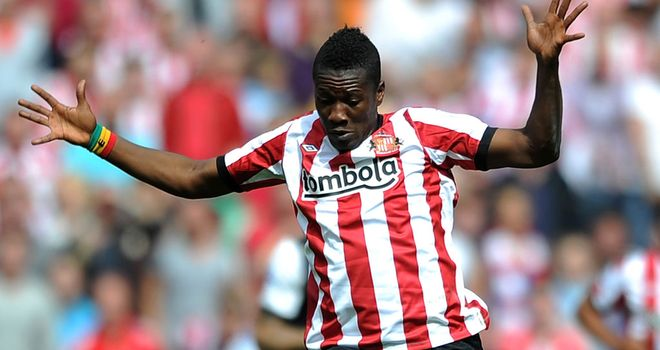 Asamoah Gyan: Is unlikely to pull on the red and white shirt of Sunderland again, according to Martin O'Neill