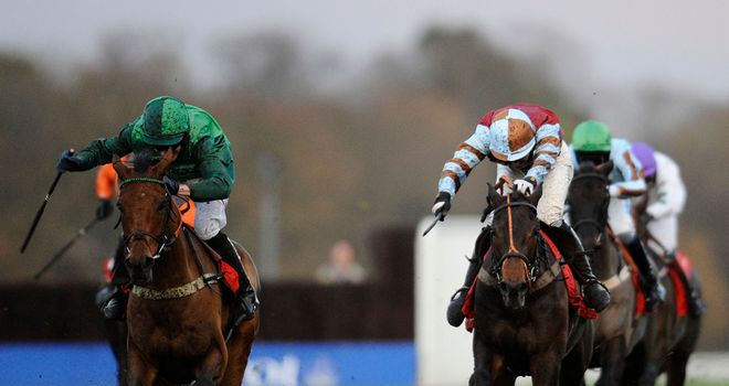 Raya Star (left): Battles to victory in The Ladbroke and may now go to Ireland