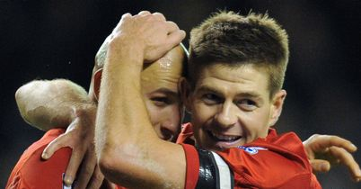 Shelvey and Gerrard: Former Anfield team-mates