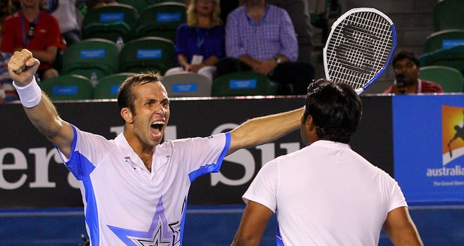 Stepanek and Paes: Celebrate their victory