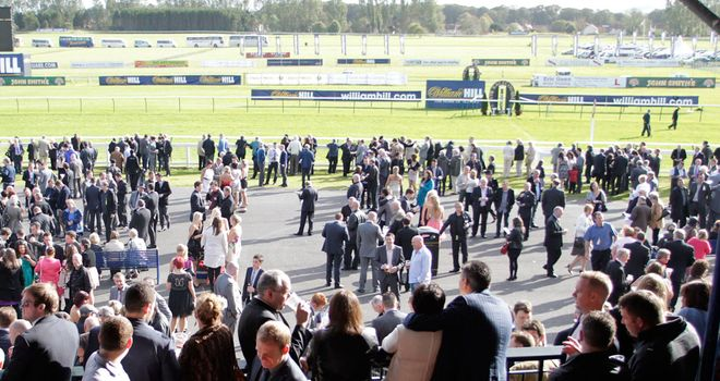 Ayr: The going is heavy but the meeting is on