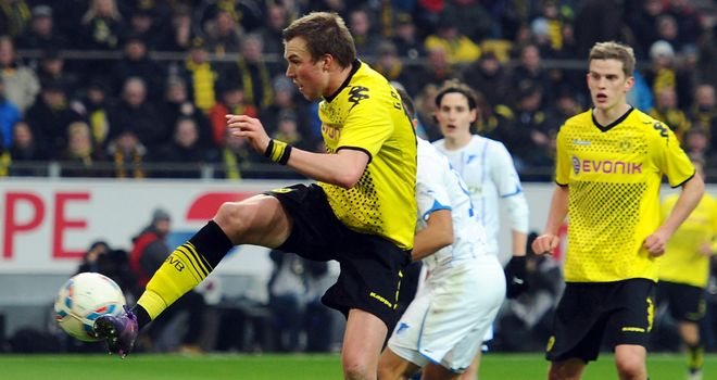 Kevin Grosskreutz: Scored the only goal as Borussia Dortmund won at Hertha Berlin