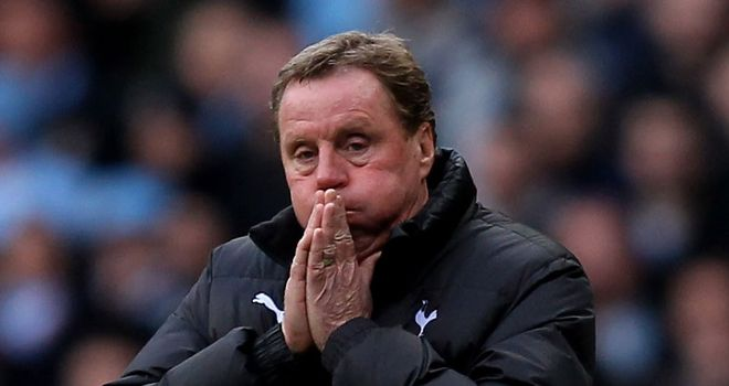 Harry Redknapp: Not expecting much movement in the transfer market before Tuesday's deadline