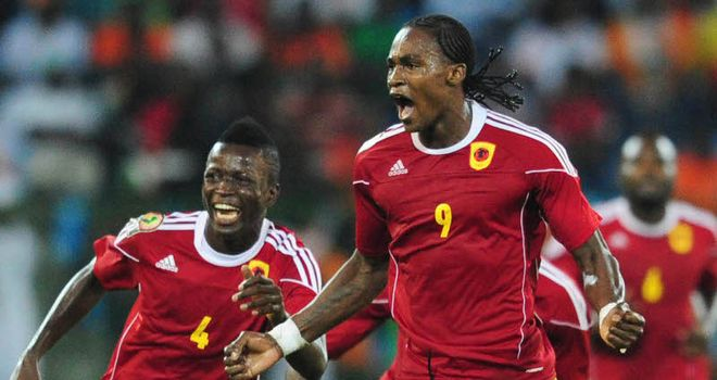 Manucho: Was on target with a brace for Angola but could not fire them to victory