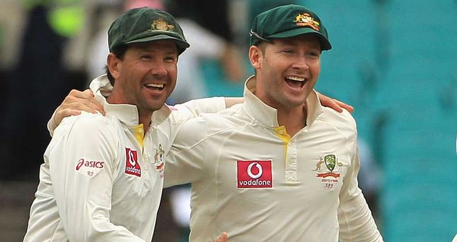 Michael Clarke and Ricky Ponting will play their last Test together in Perth