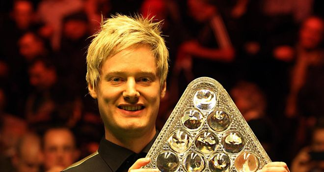 Neil Robertson with the 2012 Masters trophy
