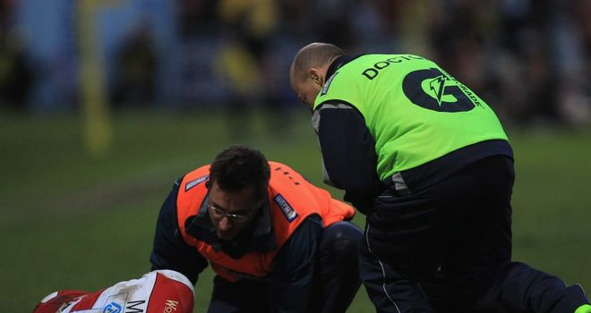 Olly Morgan: Has been sidelined since damaging his knee against Worcester