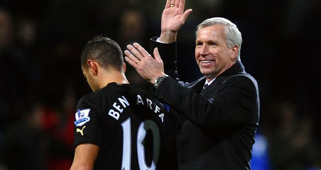 Alan Pardew thinks Hatem Ben Arfa can learn from Luis Suarez