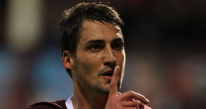 Rudi Skacel: Has signed a six-month extension to his contract at Hearts