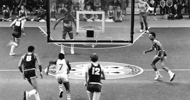 Different era: how the court looked before the three-point line