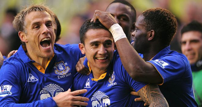 Tim Cahill: Has not ruled out a return to Everton on loan