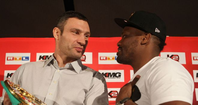 Dereck Chisora (R): Thinks he will be taking the WBC belt off Vitali Klitschko