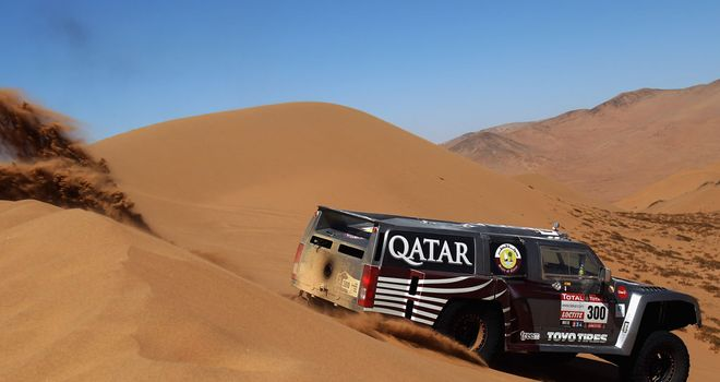 Nasser al-Attiyah: Closing in on leader Stephane Peterhansel