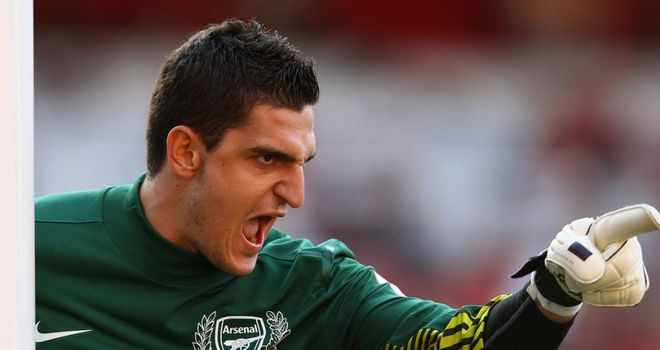 Vito Mannone: Has the backing of Arsene Wenger ahead of the game against Montpellier