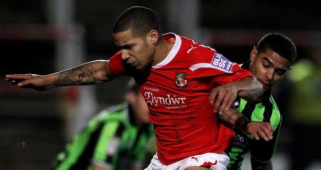 Curtis Obeng: Swansea defender in action for Wrexham