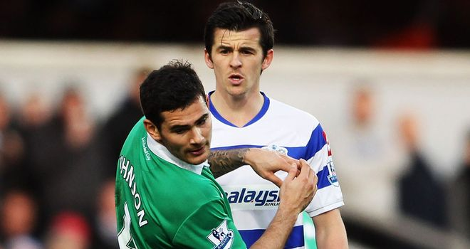 Joey Barton tangles with Bradley Johnson and is sent off against Norwich