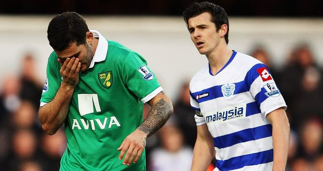 Joey Barton: Was sent off after clashing with Norwich man Johnson