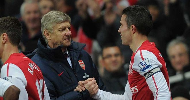 Arsene Wenger: Has dimissed talk of Robin van Persie leaving Arsenal for Manchester City